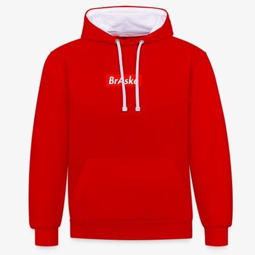 BrAske Red - Kontrast-hættetrøje