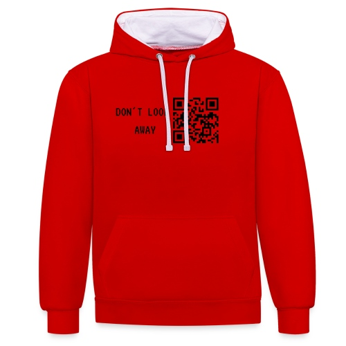 Don't look away - Kontrast-Hoodie