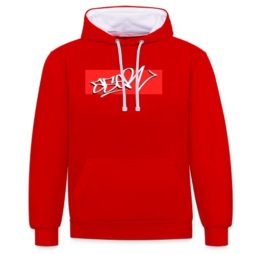 ASER Simple-Style RedBG - Kontrast-Hoodie