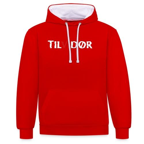 TILVIDØR LOGO - Kontrast-hættetrøje