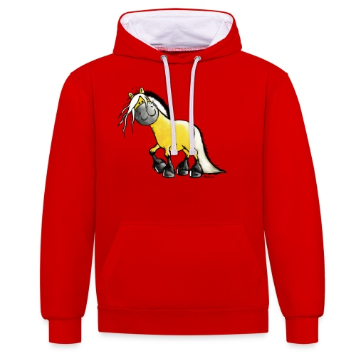 fjord_horse - Contrast Colour Hoodie