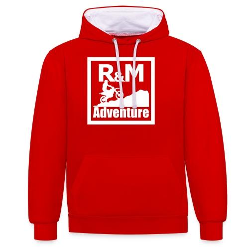 R M Adventure - Kontrast-Hoodie