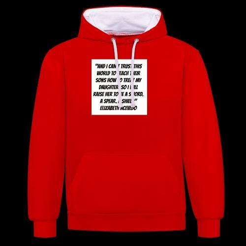 Quote by Elizabeth Acevedo - Contrast Colour Hoodie