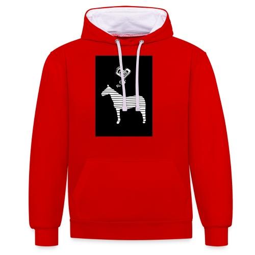 Pferde Herz - Kontrast-Hoodie