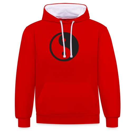 YIN YANG CLOTHES - Contrast Colour Hoodie