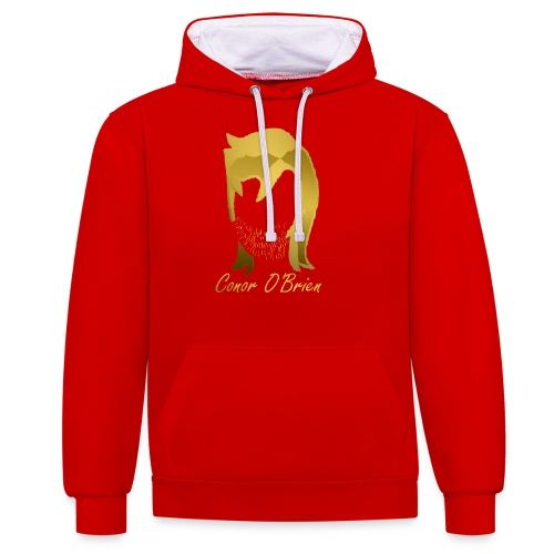 The Golden Logo - Contrast Colour Hoodie