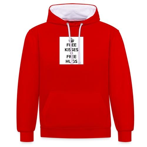 free kisses or free hugs - Contrast hoodie
