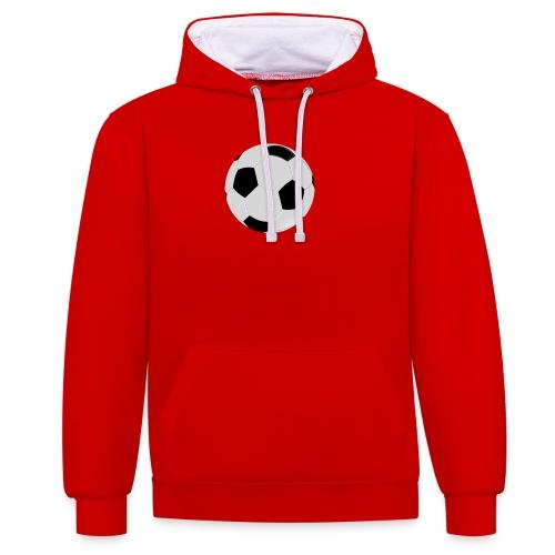 voetbal mok - Contrast hoodie