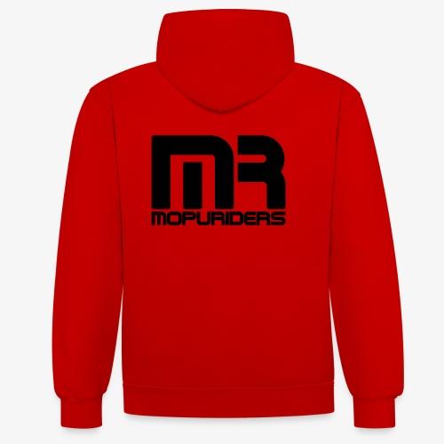 Mopuriders Schwarz - Kontrast-Hoodie