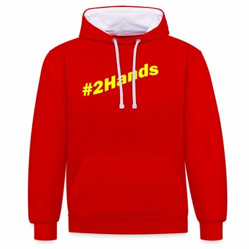 2Hands - Contrast Colour Hoodie