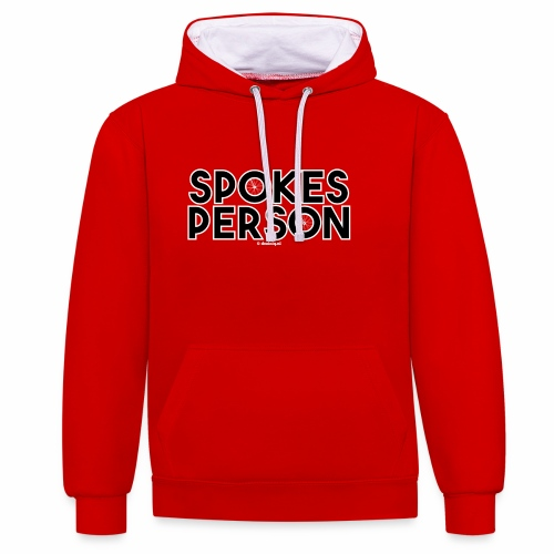 Spokes Person - Contrast hoodie