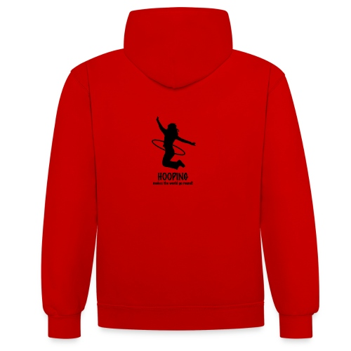 Hooping makes the world go round! - Kontrast-Hoodie
