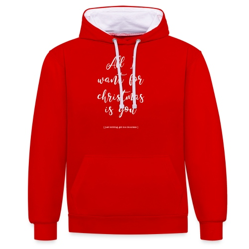 All I want_ - Contrast hoodie