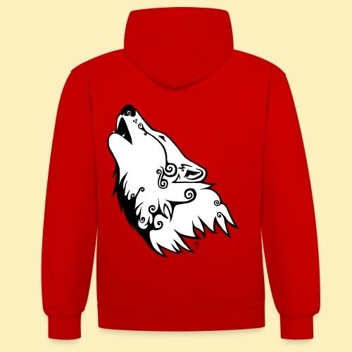 Le Loup de Neved (version blanche) - Sweat-shirt contraste