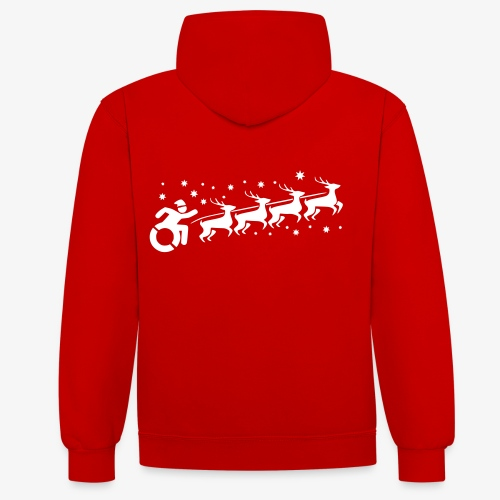 Santa WheelChair Mafia especially for Christmas - Contrast hoodie
