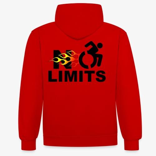 Geen grenzen voor deze rolstoel gebruiker - Contrast hoodie