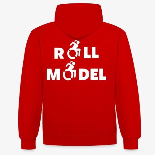 Dame in rolstoel is ook een roll model - Contrast hoodie