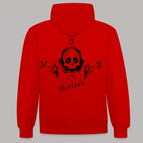 MB13 - Skull - Contrast Colour Hoodie