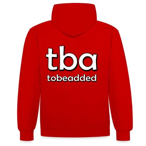 tobeadded Logo 2013 - Kontrast-Hoodie