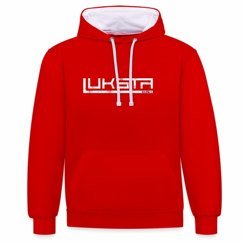 SIX ONE SEVEN 1 LUKSTA PNG WHITE png - Contrast Colour Hoodie