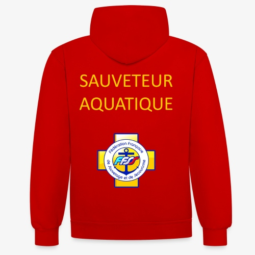SAUVETEUR AQUATIQUE FFSS - Sweat-shirt contraste