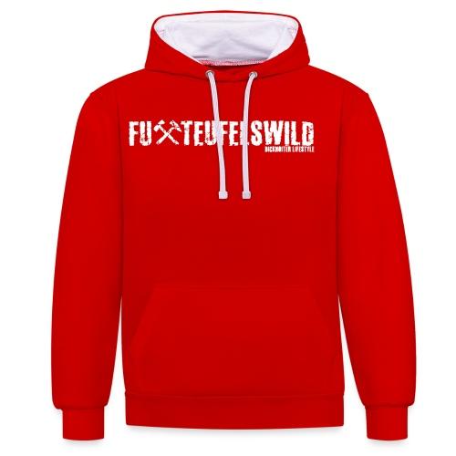 FuXteufelswild - Kontrast-Hoodie