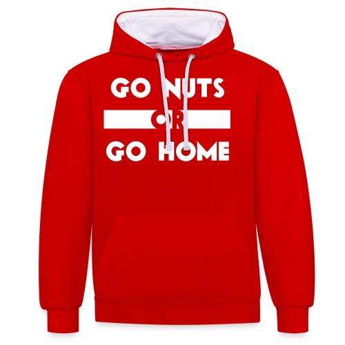 Go Nuts or Go Home1 png - Kontrast-Hoodie
