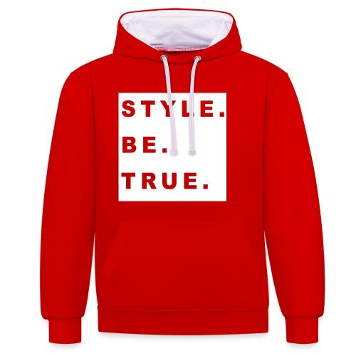 T Shirt RUNfRont png - Kontrast-Hoodie