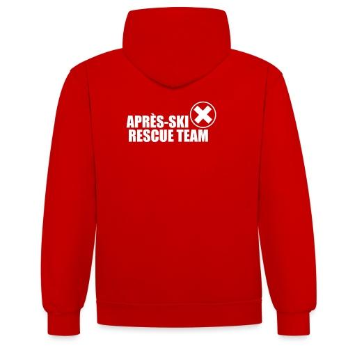 APRÈS SKI RESCUE TEAM 2 - Contrast hoodie