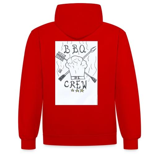 bbqcrew1% - Contrast hoodie