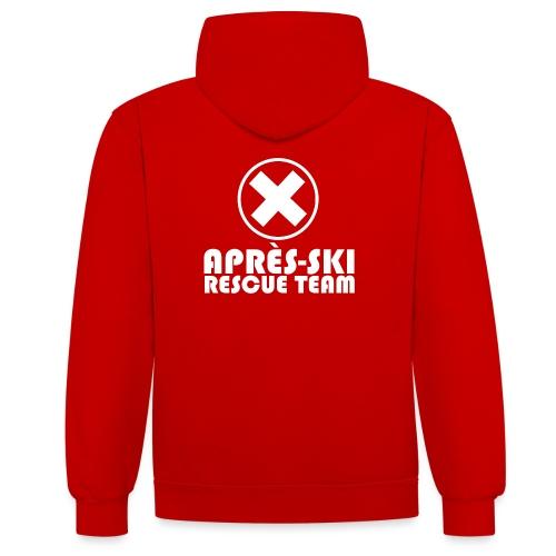 APRÈS SKI RESCUE TEAM 1 - Contrast hoodie