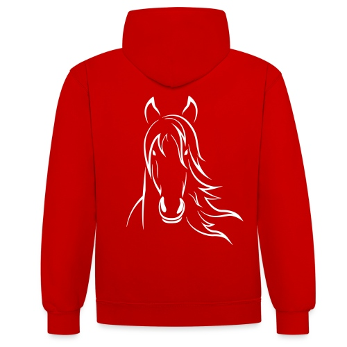 Vorschau: Horse - Kontrast-Hoodie