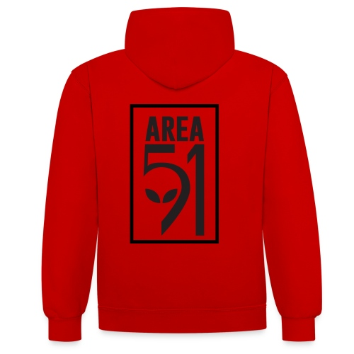 Area 51 raid + - Sweat-shirt contraste