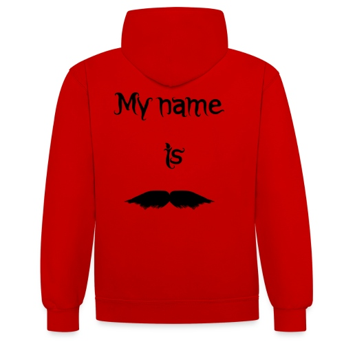 Moustache - Sweat-shirt contraste