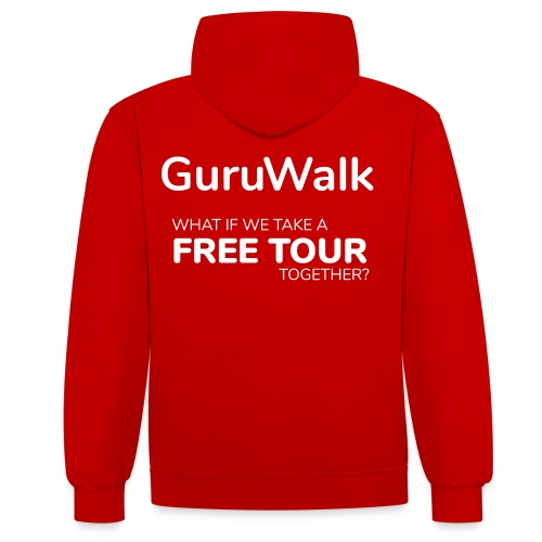 What If We Take a Free Tour Together? - Sudadera con capucha en contraste