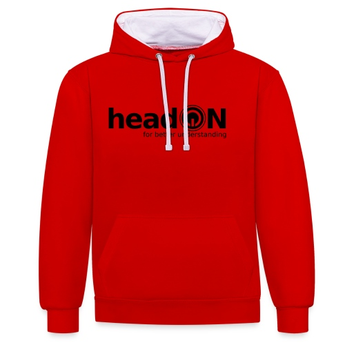 headon Logo SW - Kontrast-Hoodie