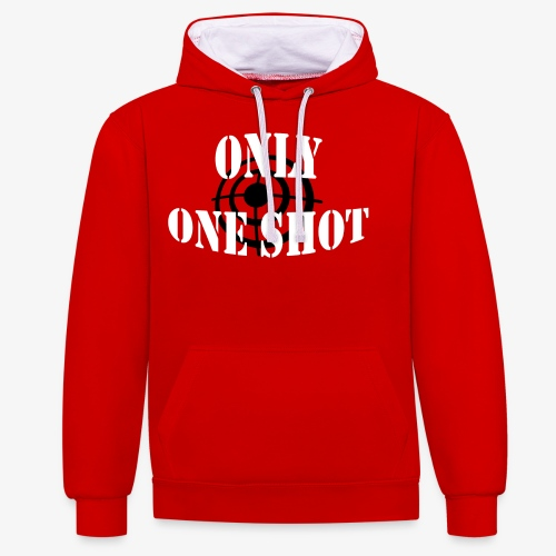 Only one shot - Sweat-shirt contraste