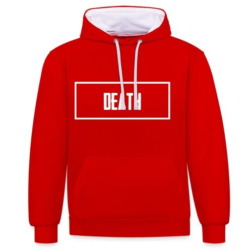 Death - Contrast Colour Hoodie