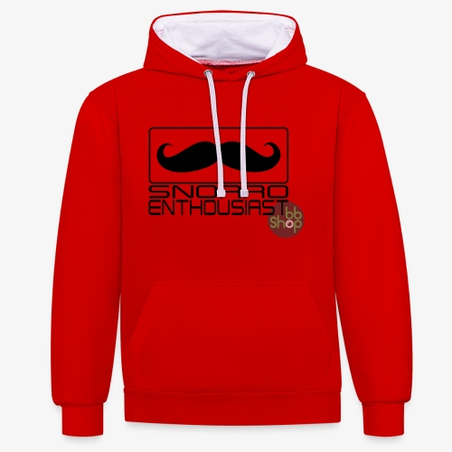 Snorro enthusiastic (black) - Contrast Colour Hoodie
