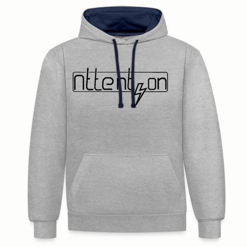 attention - Contrast hoodie