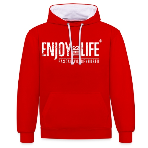 Enjoy this Life® Classic weiss Pascal Voggenhuber - Kontrast-Hoodie