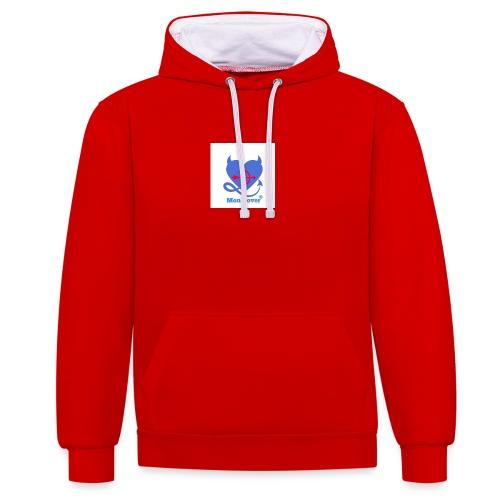 Logo Mon Dover - Felpa con cappuccio bicromatica