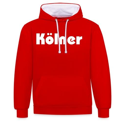 Kölner - Kontrast-Hoodie