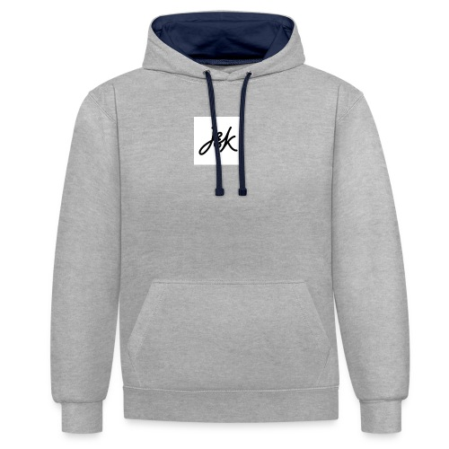 J K - Contrast Colour Hoodie
