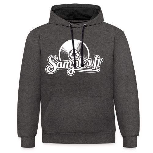 Samples.fr noir - Sweat-shirt contraste