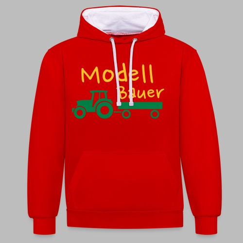 Modellbauer - Modell Bauer - Kontrast-Hoodie
