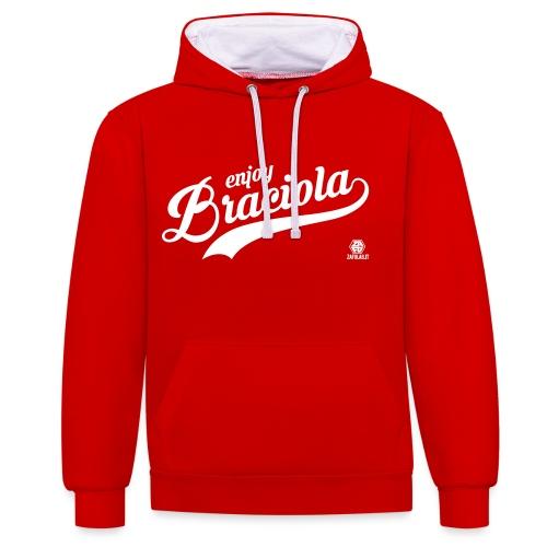 Slang Braciola RED - Felpa con cappuccio bicromatica