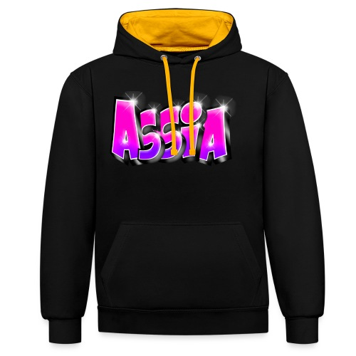 Assia graffiti name printable - Sweat-shirt contraste
