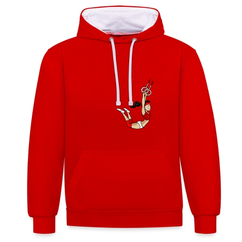 The flying girl - Kontrast-Hoodie