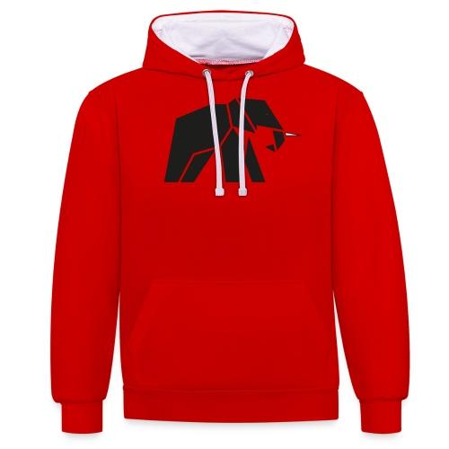 Schönes Elefanten Design für Elefanten Fans - Kontrast-Hoodie
